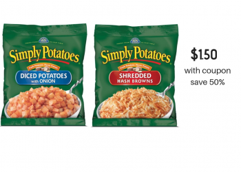 New Simply Potatoes Coupon, Sale and Catalina, Pay just $1.50 per Bag