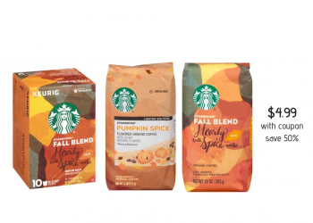 Starbucks Pumpkin Spice Coffee and Fall Blend Coffees Just $4.99 at Safeway