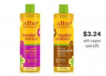 Alba Botanica Shampoo and Conditioner Just $3.24 With Coupon and BOGO Free Sale at Safeway (Save 62%)