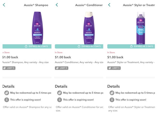 Get Aussie Shampoo, Conditioner and Stylers for Just $1 00