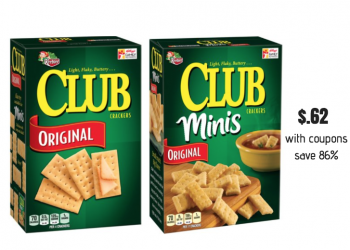 Keebler Club Crackers as low as $.62 a Box at Safeway With a New Coupon Stack