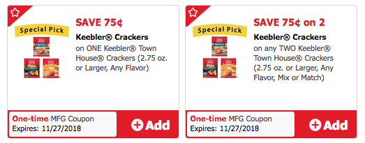 Keebler Town House Crackers Coupon