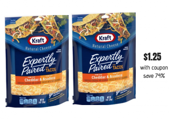Kraft Expertly Paired Shredded Cheese Just $1.25 each at Safeway
