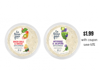 La Terra Fina Dips Just $1.99 With New BOGO Free Coupon (Save 61%)