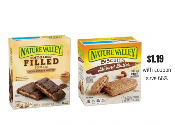 New Nature Valley Coupons and HOT sale at Safeway, Pay Just $1.19 for Granola Bars