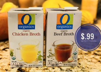 Get O Organics Broth 32 oz Cartons for Just $.99 With Coupon at Safeway