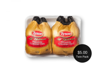 Tyson Cornish Hens Twin Packs Just $5.00 at Safeway