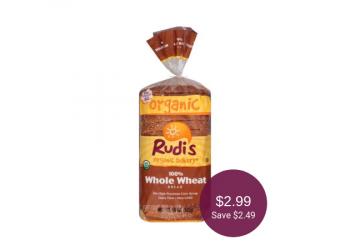 Rudi's Organic Bread for $2.99 at Safeway