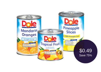 Dole Canned Fruit Coupons = as Low as $0.49