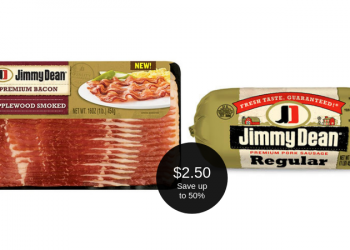 Jimmy Dean Sausage or Bacon = $2.50 After Coupon & Sale at Safeway