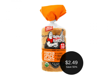 Dave's Killer Bread Pumpkin Spice Madness Bagels for $2.49 (Save 50%)