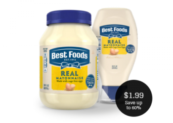 Best Foods Mayo Coupon & Sale = $1.99
