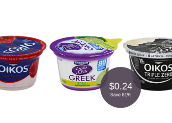 Dannon Greek Yogurt for as Low as $0.24