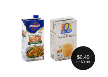 O Organics Broth $0.49 or Swanson Broth for $0.99