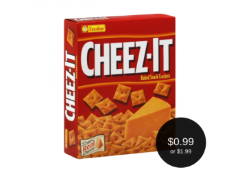 CHEEZ-IT Crackers on sale for $1.99 ($0.99 After KFR Rewards)
