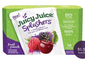 Juicy Juice Splashers = as Low as $1.50 for Organic Drinks
