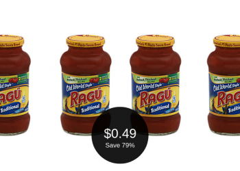 Ragu Coupons & Sale at Safeway = ONLY $0.49 (Save 79%)