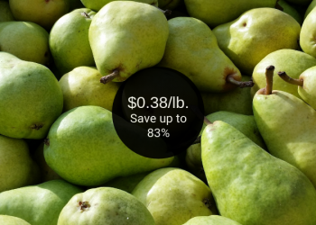 Anjou or Bartlett Pears = as Low as $0.38 Per Pound at Safeway