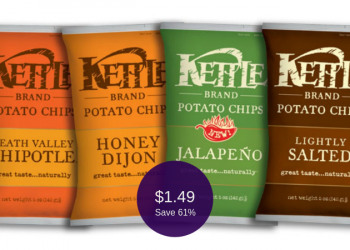 Kettle Brand Chips Coupon = Only $1.49 Each