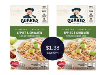 Quaker Instant Oatmeal for Only $1.38