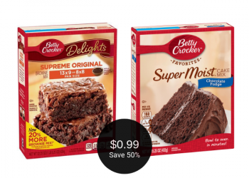 Betty Crocker Brownies, Icing, & Cake Mix for $0.99 at Safeway