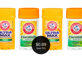 Arm & Hammer Essentials or Ultra Max Deodorant for $0.89