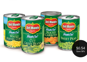 Del Monte Vegetables = as Low as $0.54 per Can at Safeway