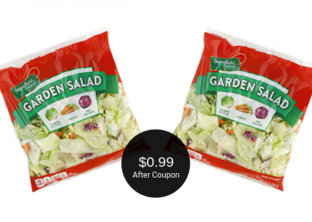 Signature Farms Garden Salad for $0.99 at Safeway