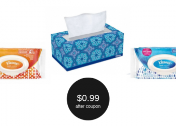 Kleenex Coupons = $0.99 for Facial Tissue or Wet Wipes