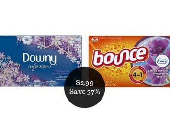 Downy & Bounce Coupons = $2.99 for Fabric Softener at Safeway