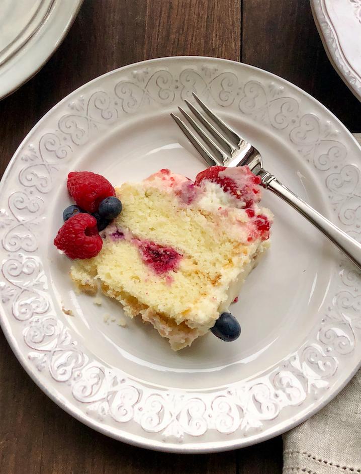chantilly cake slice