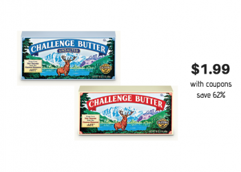 Challenge Butter Just $1.99 With Coupons at Safeway