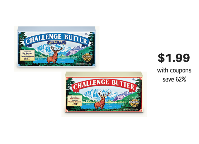 Challenge Butter Coupon Stack