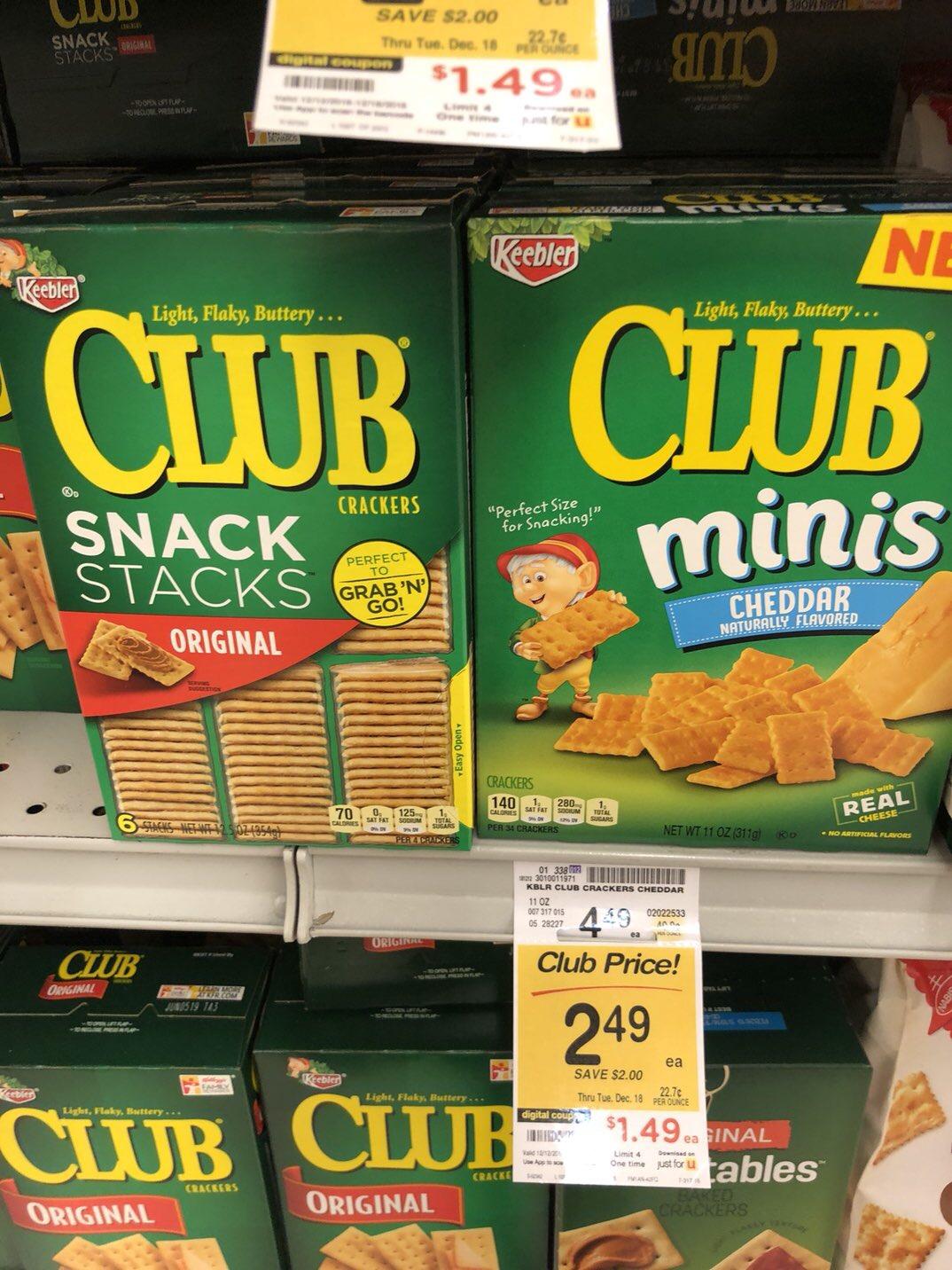 Club crackers sale mini