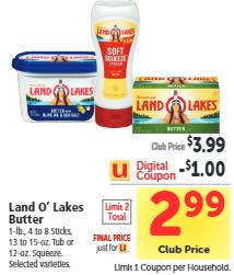 Land O Lakes Coupon