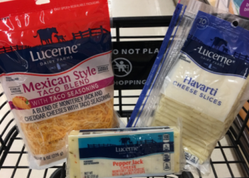 Lucerne Cheese Coupon = $1.49 for Sliced, Shredded, or Chunk at Safeway