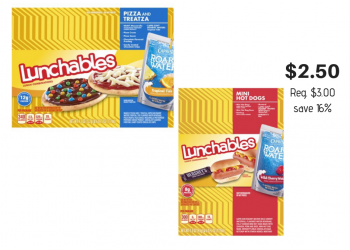 Lunchables $2.50 at Safeway