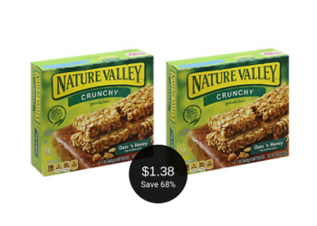 Nature Valley Granola Bars for as Low as $1.38 at Safeway