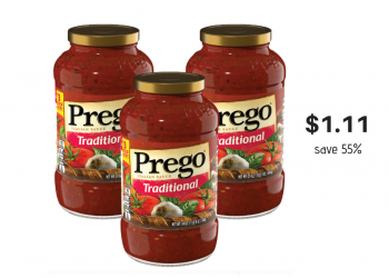 Prego Pasta Sauce Just $1.11 with Coupon and Sale at Safeway