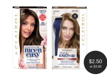 Clairol Hair Color Coupon = $2.50 root touch-up & $3 Nice'n Easy at Safeway