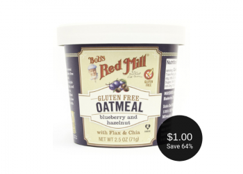 Bob's Red Mill Oatmeal Cup for $1.00 at Safeway (Save 64%)