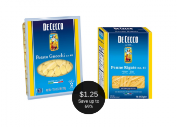 De Cecco Pasta for as Low as $1.25 at Safeway (Save up to 69%)