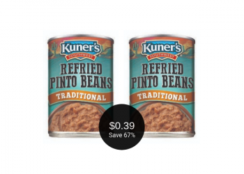 Kuner's Refried Beans for $0.39 at Safeway