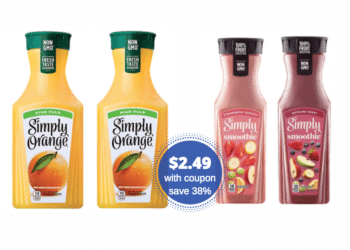 Simply Orange Juice and Smoothies Just $2.49 With New Coupon and Sale at Safeway