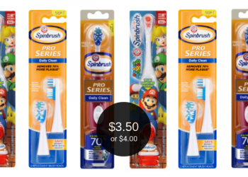 Spinbrush Pro as Low as $4.00 & Spinbrush Kids $3.50 at Safeway
