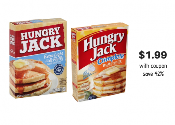 Hungry Jack Pancake & Waffle Mix Just $1.99 With Coupon and Sale at Safeway