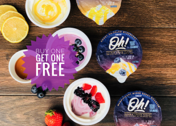 Save 50% on New Oikos Oh! Double-Cream Yogurt With Buy One Get One Free Sale at Safeway