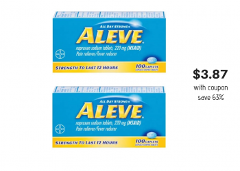 New Aleve Coupon and Sale, Pay Just $3.87 at Safeway (Reg. $10.49)