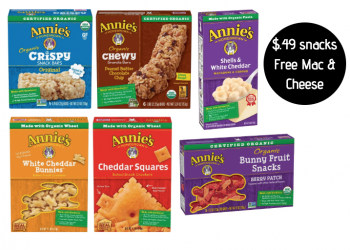 Free Annie's Mac and Cheese and HOT Deals on Annie's Organic Snacks at Safeway – as Low as $.49 With Coupon