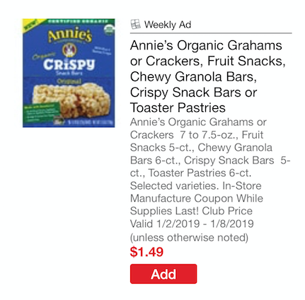 Annie's Snacks Coupon